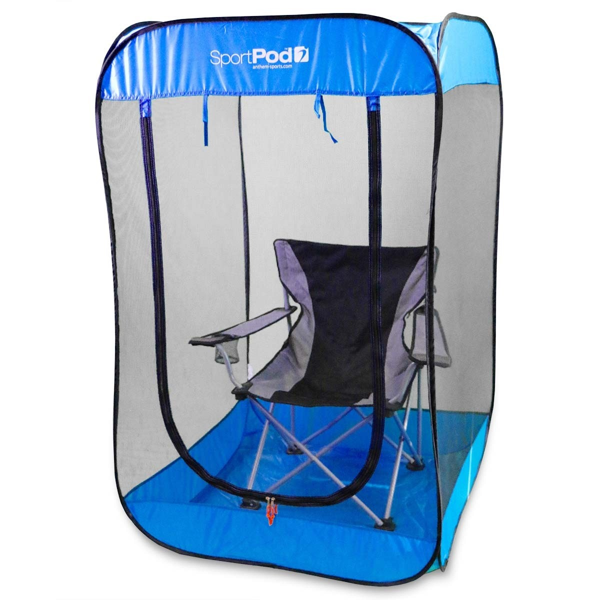 chair under cover zebra bedroom bugpod undercover sportpod pop up insect screen tent