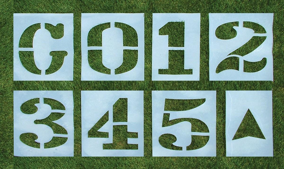 Standard Football Field Stencil 312H Single Letter or