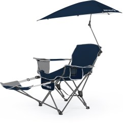 Sport Folding Chairs Cushions For Teak Steamer Sklz Brella Recliner Chair W Umbrella Footrest