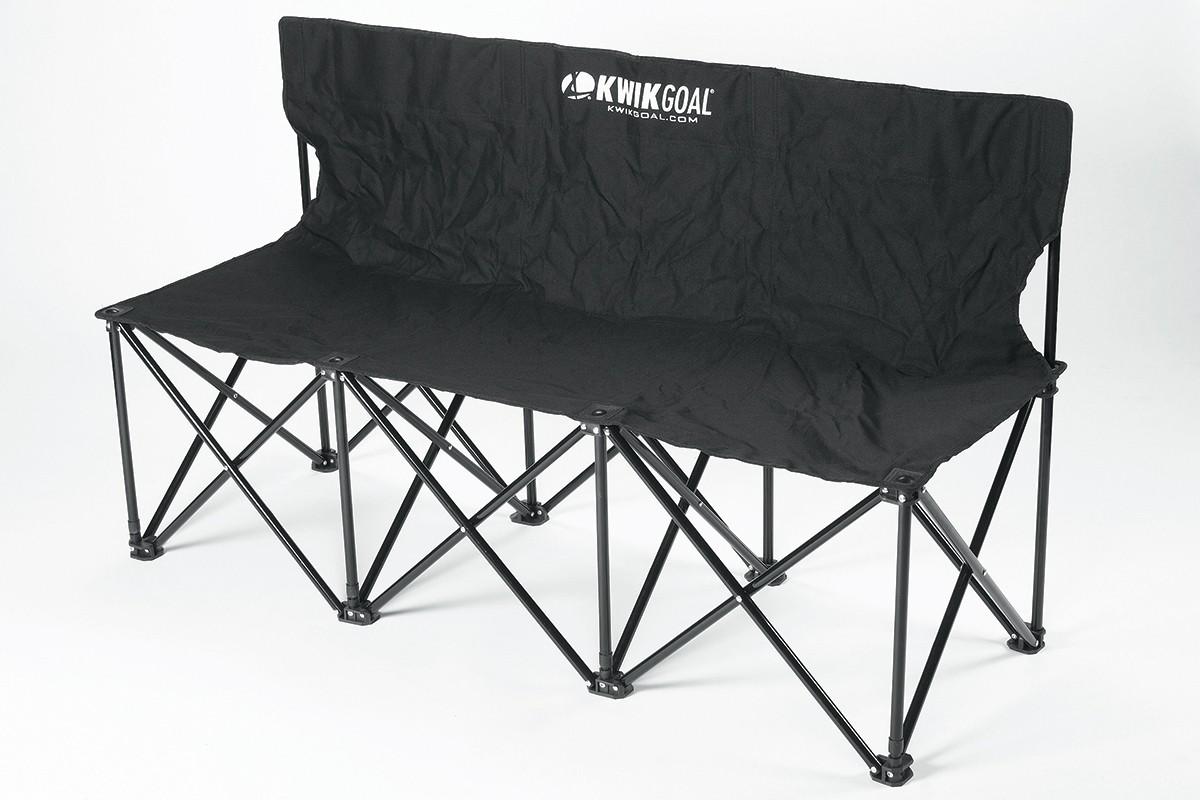 Kwik Goal 9b903 Folding Soccer Bench 3 Seater