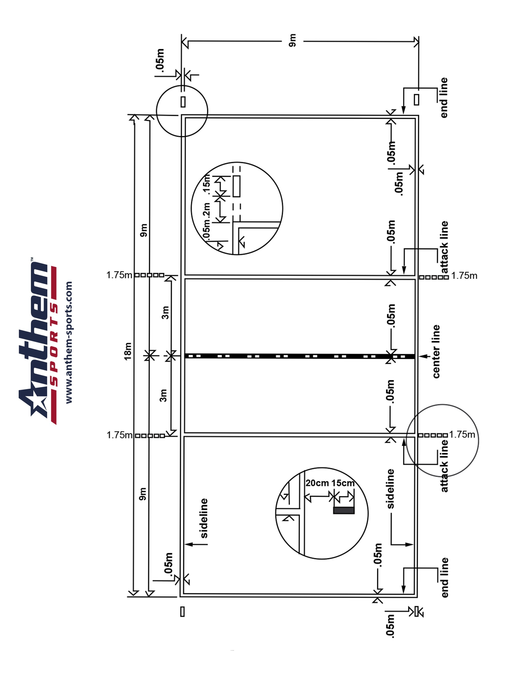 hight resolution of indoor volleyball diagram