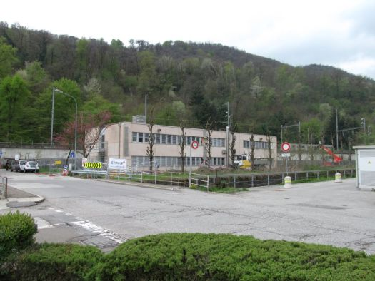 A Swiss refugee processing center in Chiasso.