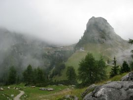 This is about as high as we could go with the gondola. We hiked down the mountain from here.