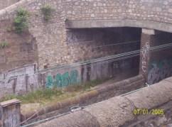 Graffiti along the train line