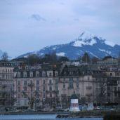 Mountains overlook Geneva.