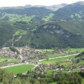 Meiringen from near the top of Reichenbach Falls