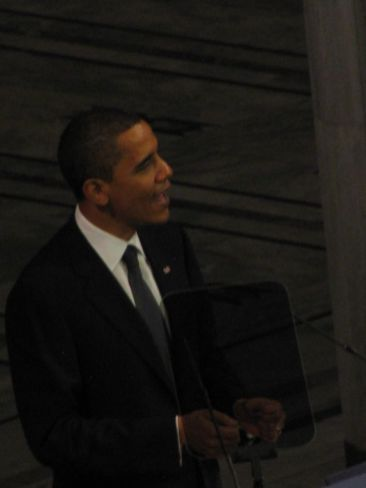 President Obama delivers his acceptance speech for the Nobel Peace Prize