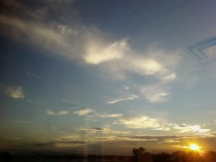 A sunrise in Tempe, AZ from the radio station window.