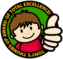 Tony's Thumbs-Up Award of Total Excellence