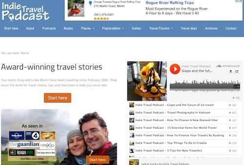 Cool travel blogs - go to Indie Travel Podcast