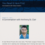 A Conversation with Anthony St. Clair - You Heard It Here First
