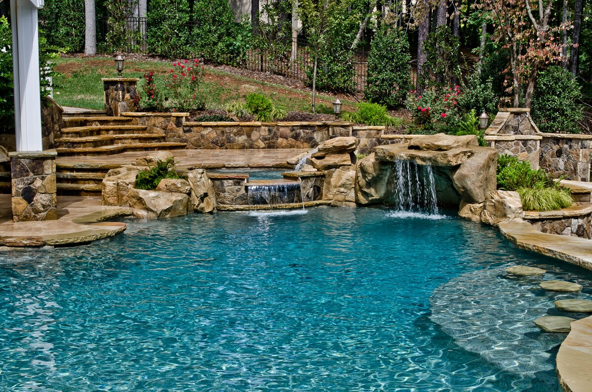 extravagant backyard pools