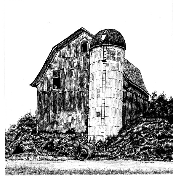 Barn Ink Drawing,jpg