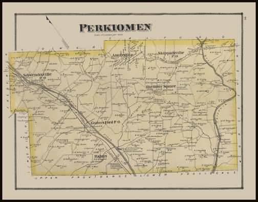Historic Maps and Drawings 66 Perkiomen Township John