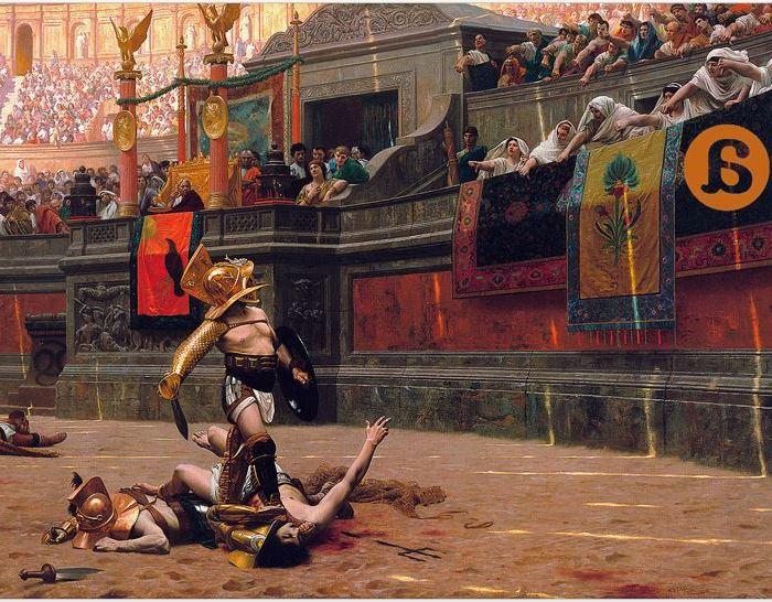 Ave Caesar, morituri te salutant  (Ave César, los que van a morir te saludan)