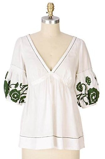 Anthropologie Lantern Sleeve Blouse