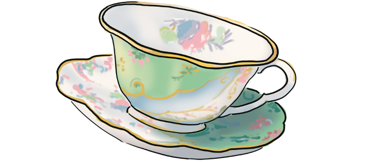 Drawing of a teacup