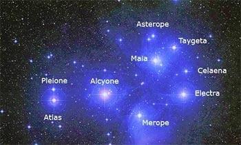 Nombres de niña mágicos Pléyades