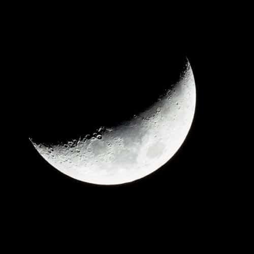 Luna Invertida Creciente