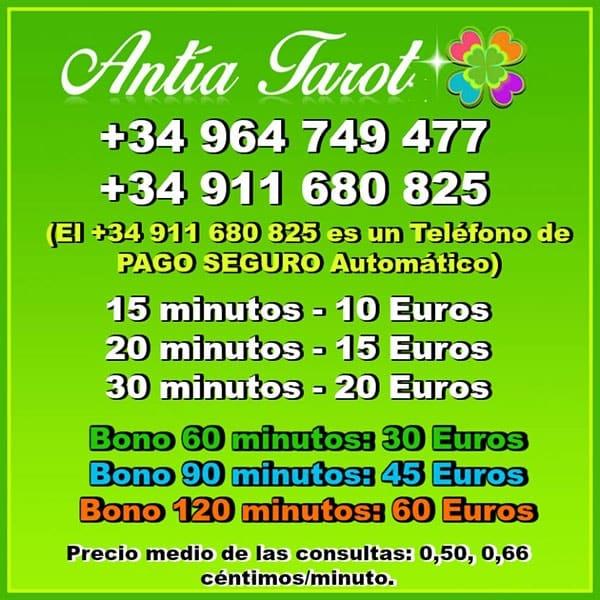 Tarot Visa Fiable y Serio sin Gabinete: Precios Antía Tarot
