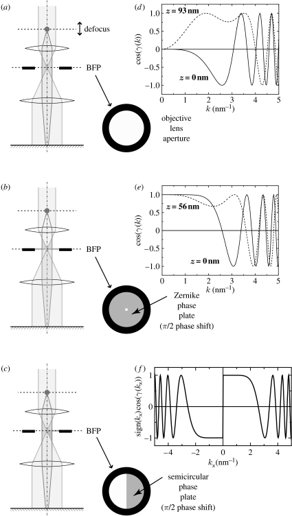 Phase contrast electron microscopy: development of thin