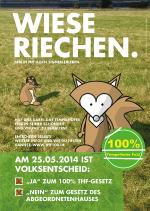 Plakat der Bürgerinitiative 100% Tempelhofer Feld, www.thf100.de