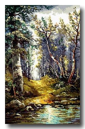 Ruscello nel bosco mezzo punto  Mezzo punto punto croce gobelin a prezzi ottimi