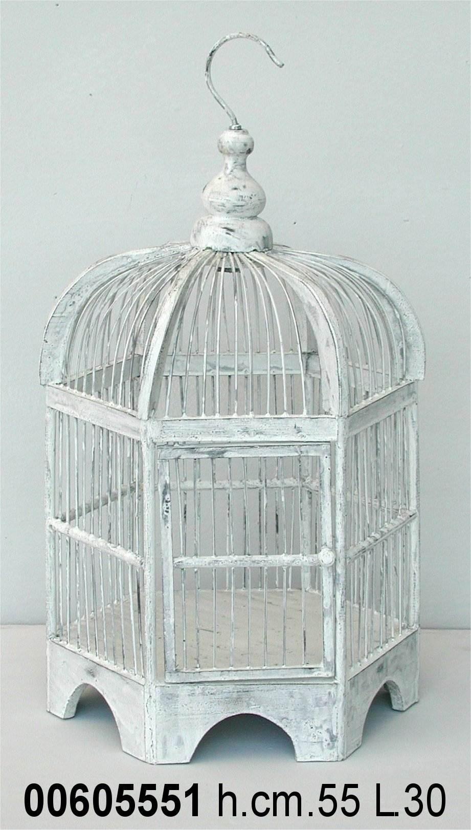 Antica Soffitta Gabbia per uccelli decorativa esagonale