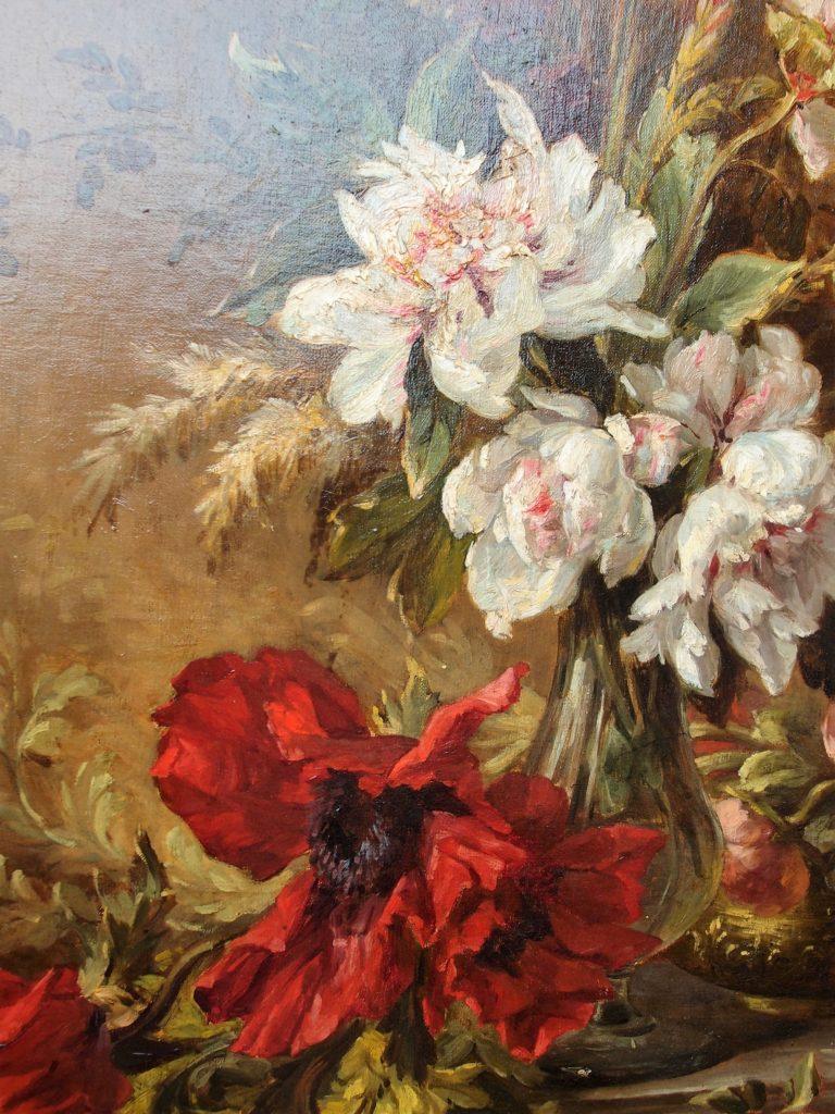 Dipinti antichi con peonie e rose protagoniste non per