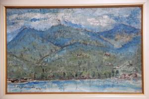 Domenico De Bernardi Olio su cartoncino