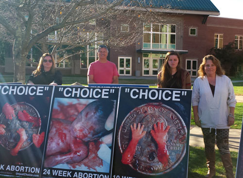Melissa Stiwinter (right), with volunteers in Cullowhee, NC on campus at Western Carolina University, October 30th