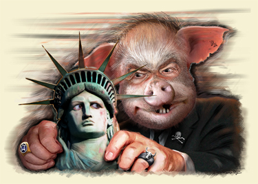 Corporate Threat to Liberty by DonkeyHotey sm
