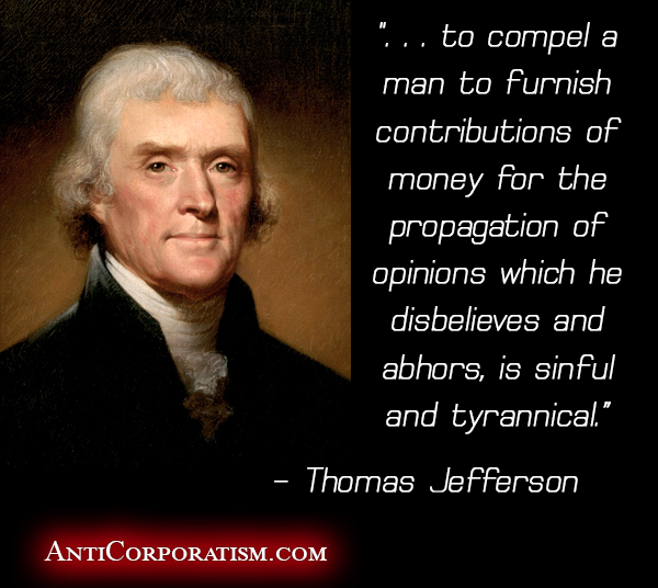 Thomas Jefferson quote - anticorporatism.com