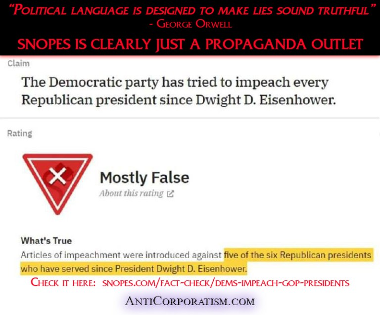 Democrat Impeachment snopes is clearly just a propaganda outlet