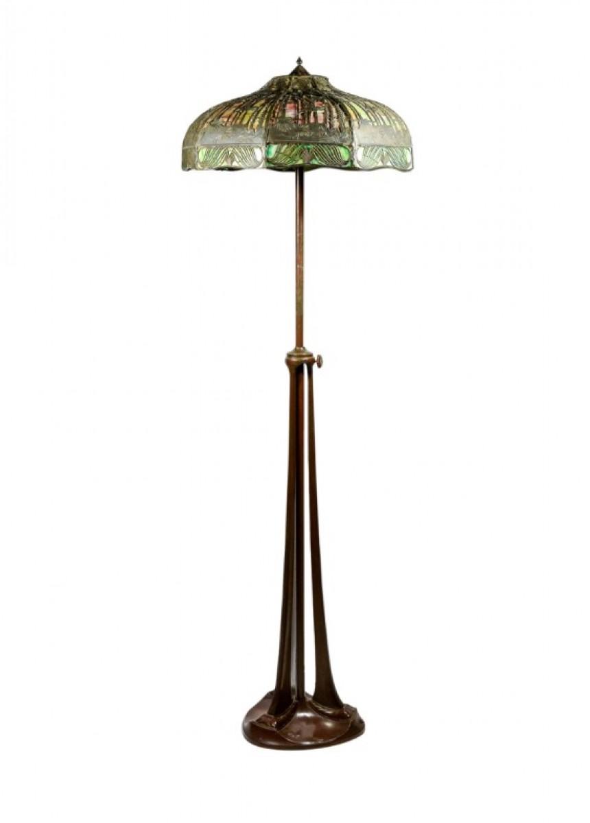 handel lampadaire art nouveau