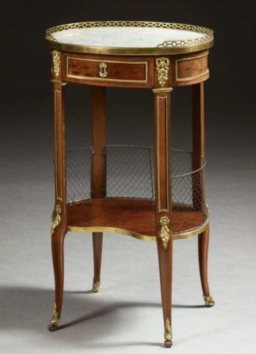 A Transitional mahogany Table de Salon stamped JL Cosson  Ref70796