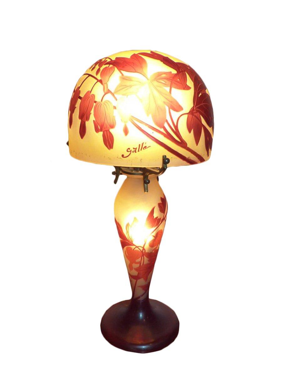 Emile Gall Lampe Champignon Coeur De Marie XXe Sicle