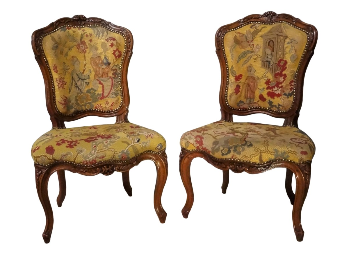 louis xv chair office ergonomic sale french pair of chairs attributed to pierre nogaret ref 72740