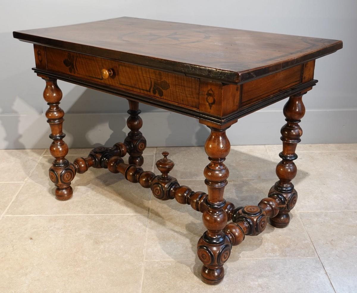 french louis xiii desk table walnut