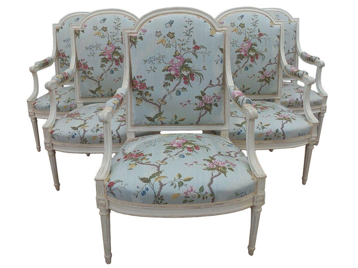 fauteuils louis xvi estampilles henry jacob