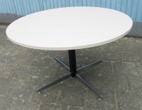 Vintage Mid-Century Modern round formica dinette kitchen table