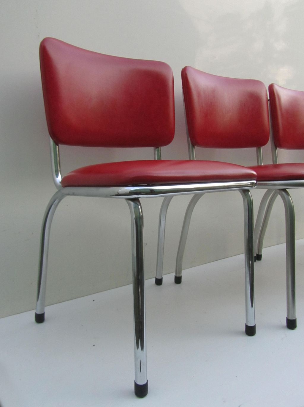 red retro kitchen chairs chair covers buy online vinyl 50s bel air art deco dining