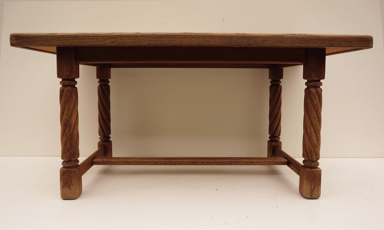 Rustieke Nederlandse tegeltafel vintage salontafel met tegels