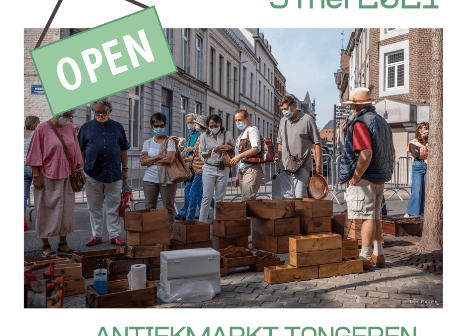 De antiekmarkt mag weer open
