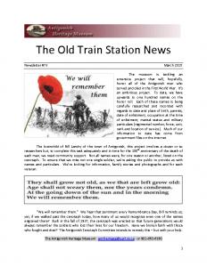 2015 03 Newsletter