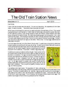 The Old Train Station News -111 April