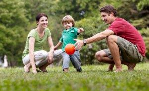 jouer avec les enfants pour dépenser des calories