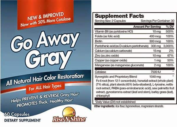 go away gray ingredients list