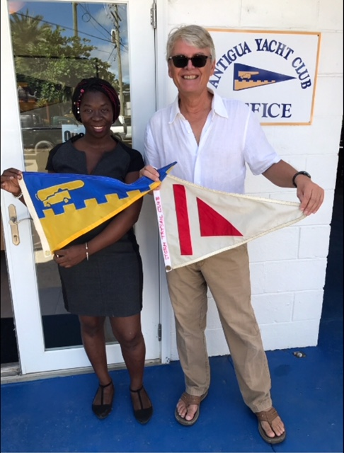 Burgee Exchange with Storm Trysail Club