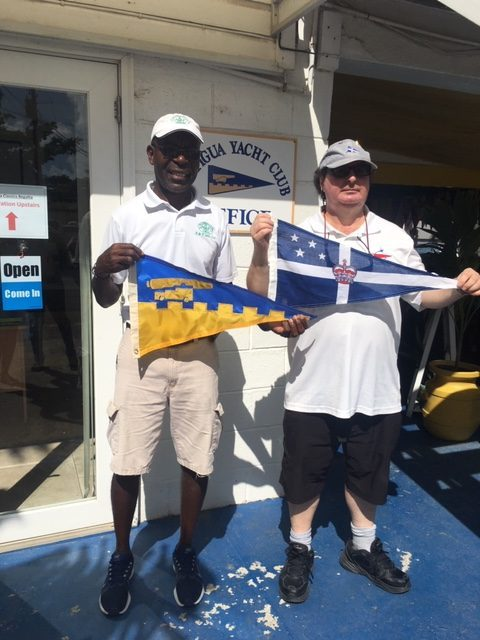 Burgee Exchange with Royal New Zealand Yacht Club